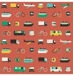 Transportation seamless pattern vector image vector image