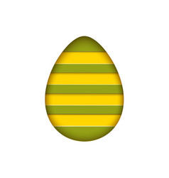 isolated egg in paper cut style for banner vector image vector image
