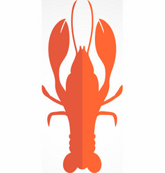 Lobster logo template design for seafood vector image