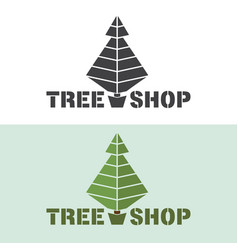 monochrome or colored tree logo emblem for vector image