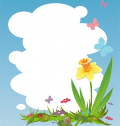 nature frame vector image vector image