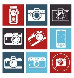 photographic camera mosaic design graphic vector image