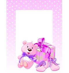 Pink Bear vector image vector image