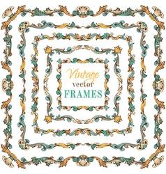 set of vintage border frames vector image