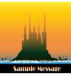sunburst castle vector image vector image