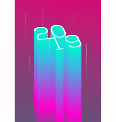 2019 new year poster flyer vector image