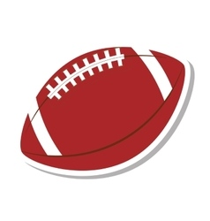 american football balloon isolated icon vector image