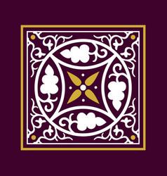 Arabic floral frame elegance background vector