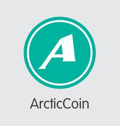 Arcticcoin virtual currency coin coin vector