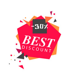 best discount 30 red white background imag vector image