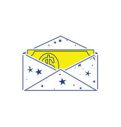 Birthday gift envelop icon with money vector