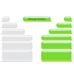 Blank message bubbles chat or messenger vector