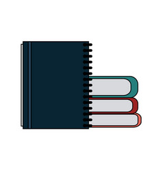 books and notebook icon image vector image