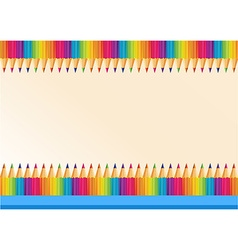 Border design with colorpencils vector image
