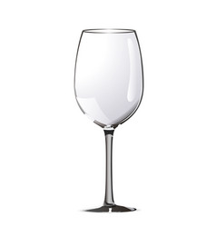 bright realistic wine glass on white vector image