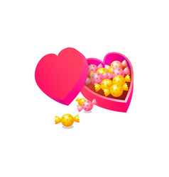 candy with love box realistic design vector image
