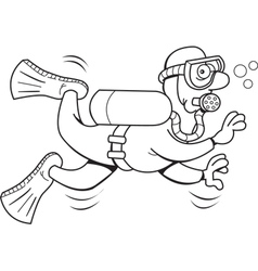 Cartoon Scuba Diver vector image