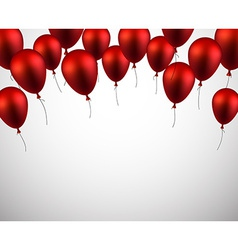 Celebrate background with red balloons vector