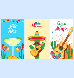 cinco de mayo 5th may a set holiday vector image