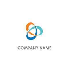 Circle technology company logo vector