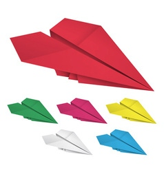 Colored paper airplanes vector