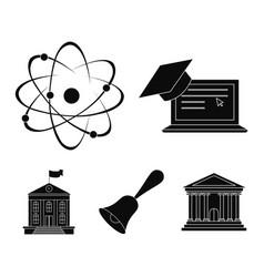 computer cap atom nucleus bell university vector image