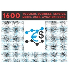 Currency Trends Icon with Large Pictogram vector