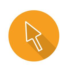 cursor flat linear long shadow icon vector image