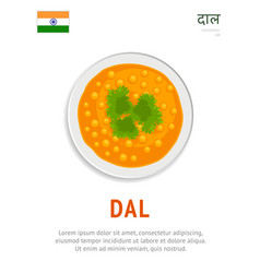 dal national indian dish vegetarian food vector image