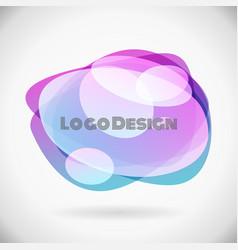 design bubble logo futuristic fluid background vector image