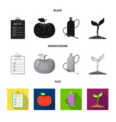 design of and icon set of and stock ve vector image