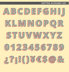 Dotted alphabet set vector