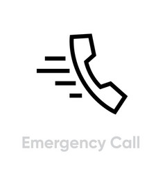 emergency call icon editable outline vector image