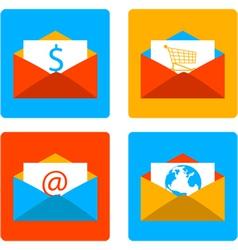 Envelope flat design vector image