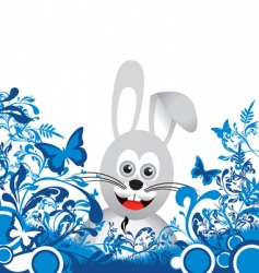 floral bunny vector image