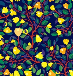 Floral seamless pattern with yellow flowers on vector