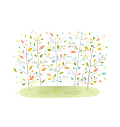 Forest background nature cartoon vector