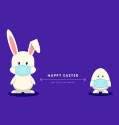 happy easter day during covid-19 pandemic vector image