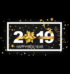 happy new year 2019 with golden vector image