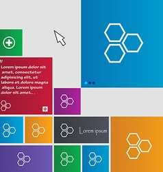 Honeycomb icon sign buttons modern interface vector