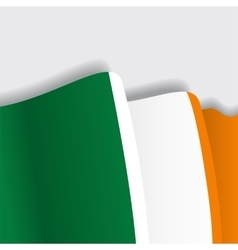 Irish waving Flag vector