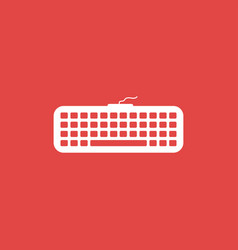 Keyboard icon isolated vector