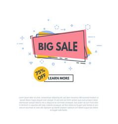 Line sale banner vector