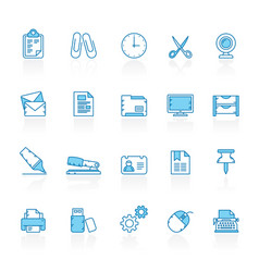 line with blue background business and office vector image