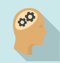 logic brain icon flat style vector image