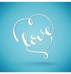 Love handmade calligraphy vector image