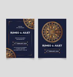 Luxury wedding invitation card design template vector