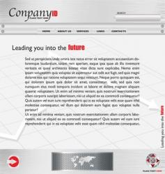 Metal webpage vector