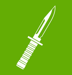 military knife icon green vector image