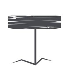 Monochrome emblem wooden sign vector